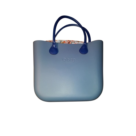 Sac à main en cuir O BAG Bleu, bleu marine, bleu turquoise