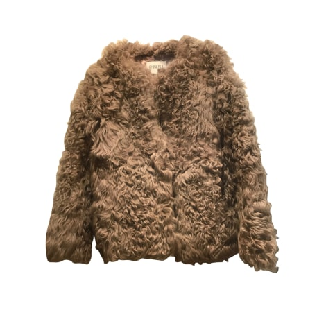 Cappotto in pelliccia CLAUDIE PIERLOT Beige, cammello