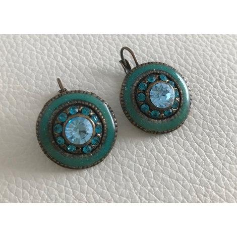 Boucles d'oreille TARATATA Turquoise et vert