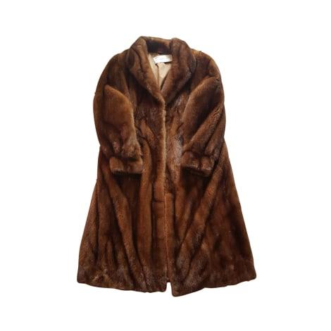 Manteau en fourrure SPRUNG FRÈRES Marron
