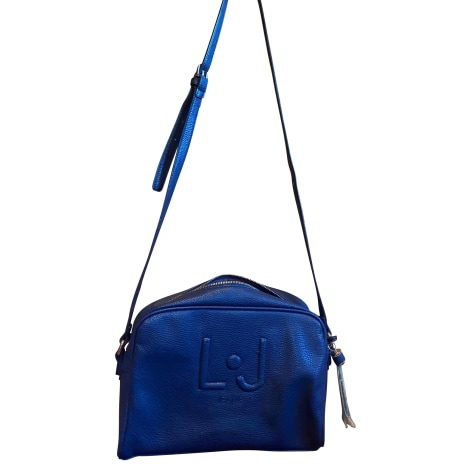 Sac en bandoulière en cuir LIU JO Bleu, bleu marine, bleu turquoise
