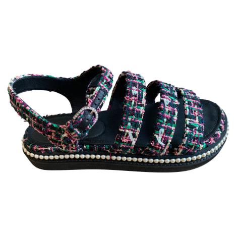 Flat Sandals CHANEL Black