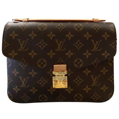 Borsa a tracolla in pelle LOUIS VUITTON Metis Marrone