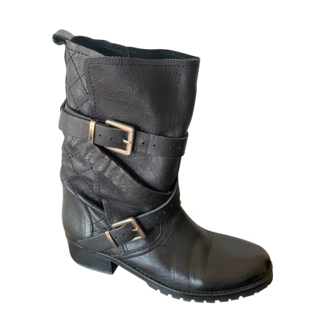 Bottines & low boots motards MAJE Noir