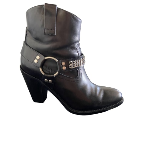 Cowboy Ankle Boots SAINT LAURENT Black