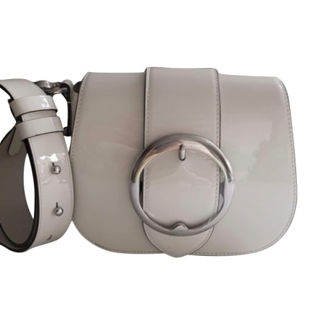 Leather Shoulder Bag RALPH LAUREN White, off-white, ecru