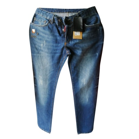 Jeans dritto DSQUARED2 Blu, blu navy, turchese
