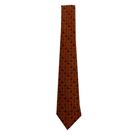 Cravate HERMÈS dominante rouge