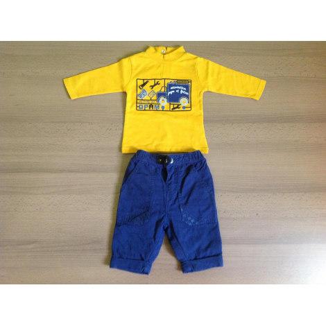 Ensemble & Combinaison pantalon DU PAREIL AU MÊME DPAM Bleu et jaune