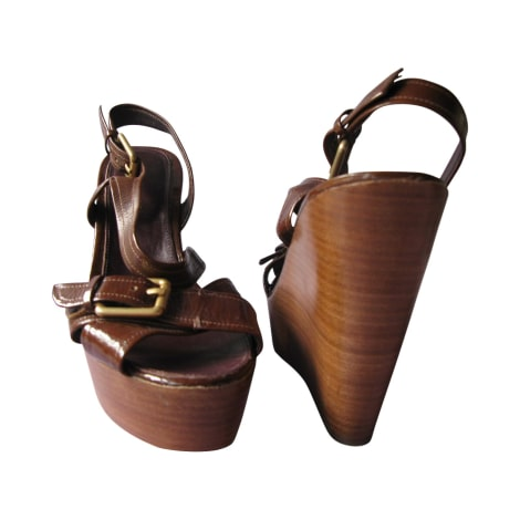 Sandales compensées BCBG MAX AZRIA Marron