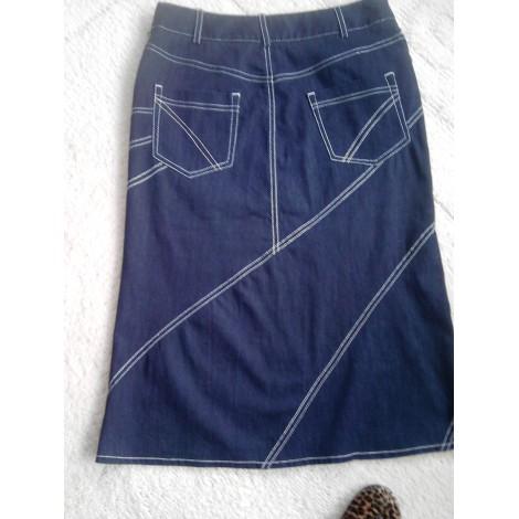 Jupe en jean INFINITIF Bleu, bleu marine, bleu turquoise