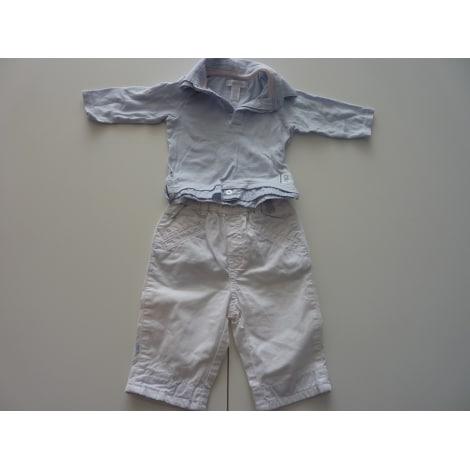 Ensemble & Combinaison pantalon OBAIBI bleu ciel et blanc