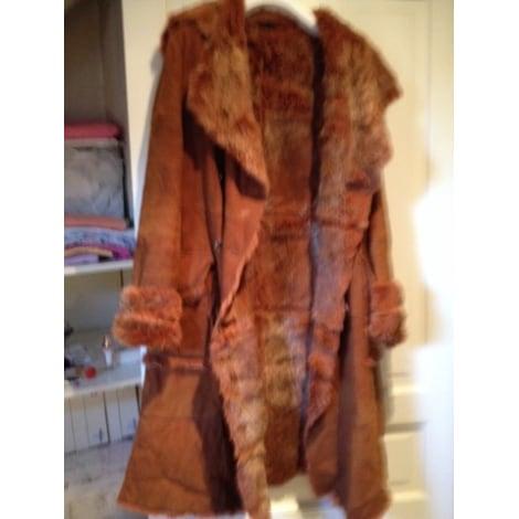 Manteau en fourrure DERHY Doré, bronze, cuivre
