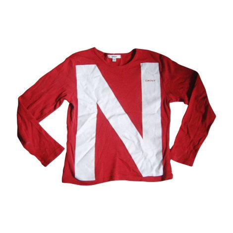 Top, Tee-shirt DKNY Rouge, bordeaux