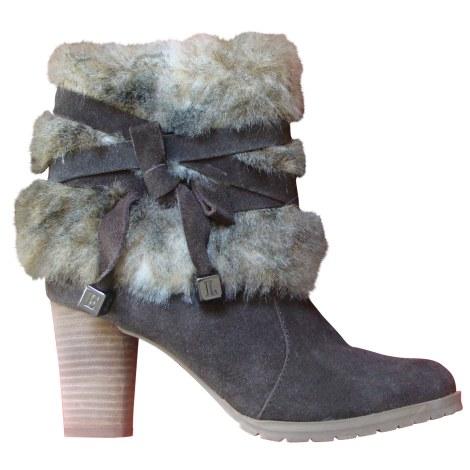 Bottines & low boots à talons ELLE Marron