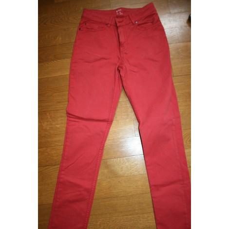 Pantalon slim, cigarette MONOPRIX Orange