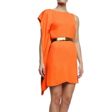 Robe courte HALSTON HERITAGE Orange