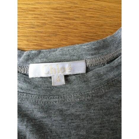 Top, Tee-shirt CHLOÉ Gris, anthracite