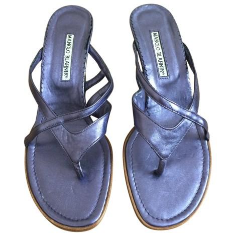 Sandales à talons MANOLO BLAHNIK Violet, mauve, lavande