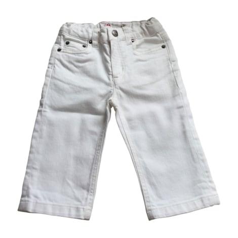 Pantalon BONPOINT Blanc, blanc cassé, écru