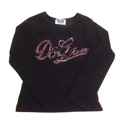 Top, Tee-shirt D&G Noir