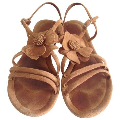 Sandales plates  ANDRÉ Beige, camel