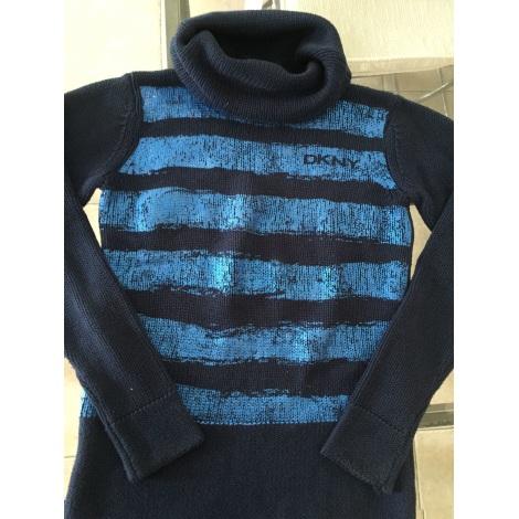 Pull DKNY Bleu, bleu marine, bleu turquoise