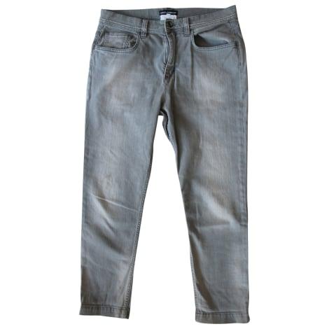 Jeans large, boyfriend DOLCE & GABBANA Gris, anthracite