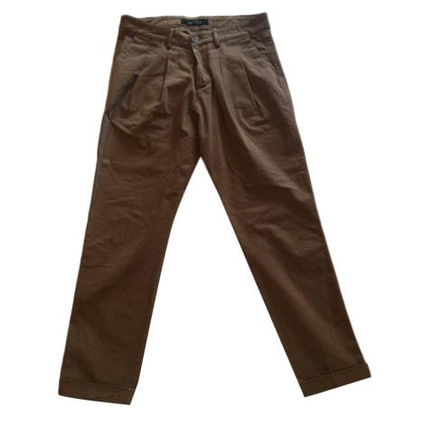 Pantalon slim, cigarette BASICON Kaki