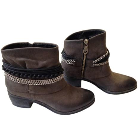 Santiags, bottines, low boots cowboy JB MARTIN Gris, anthracite