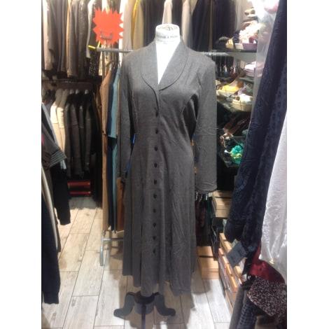 Robe mi-longue CHRISTINE LAURE Marron