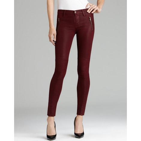 Jeans slim HUDSON JEANS Rouge, bordeaux