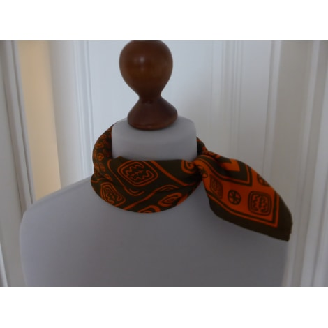 Foulard INÈS DE LA FRESSANGE marron et orange