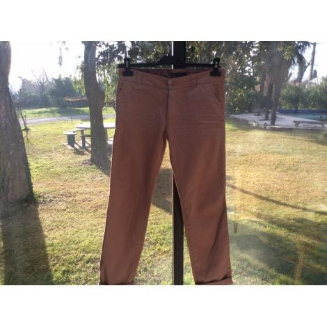 Pantalon droit BERENICE Orange clair/terre de sienne