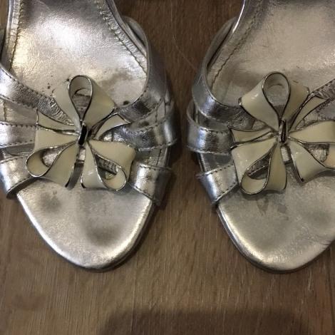 Sandales à talons SONIA RYKIEL Argenté, acier
