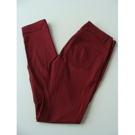 Jeans slim ONLY Rouge, bordeaux