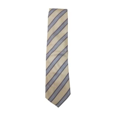 Cravate CARVEN rayures bleues et blanches