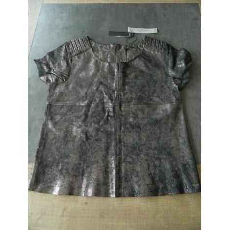 Top, tee-shirt IKKS Gris, anthracite