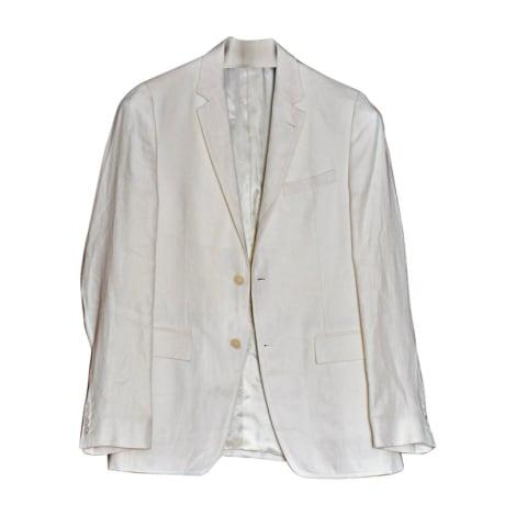 Veste AZZARO Blanc, blanc cassé, écru