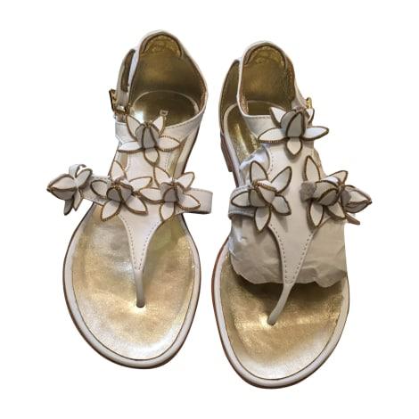 Sandales DSQUARED2 Blanc, blanc cassé, écru