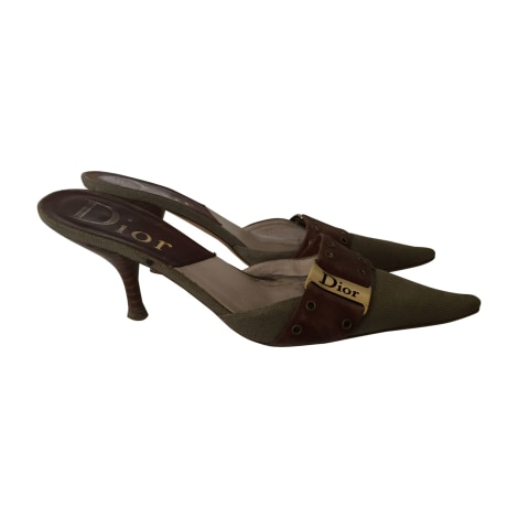 Sandales à talons DIOR Kaki