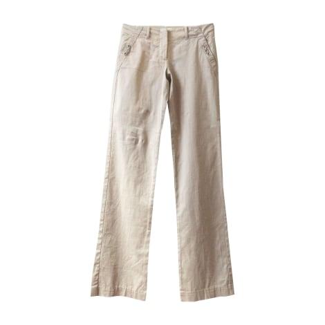 Pantalon droit BLUMARINE Beige, camel