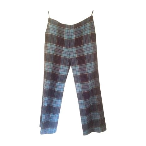 Pantalon droit GIVENCHY Bleu, bleu marine, bleu turquoise