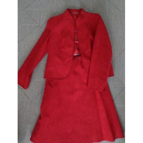 Tailleur jupe RALPH Rouge, bordeaux