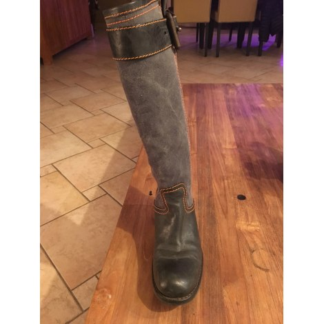 Bottes motards FREE LANCE Gris, anthracite