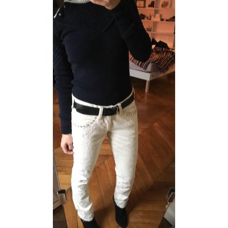 Jeans droit ISABEL MARANT Blanc, blanc cassé, écru