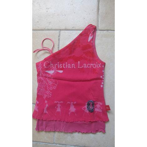 Top, Tee-shirt CHRISTIAN LACROIX Rose, fuschia, vieux rose