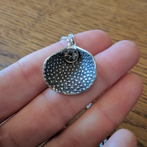 Pendentif, collier pendentif PILGRIM Argenté, acier