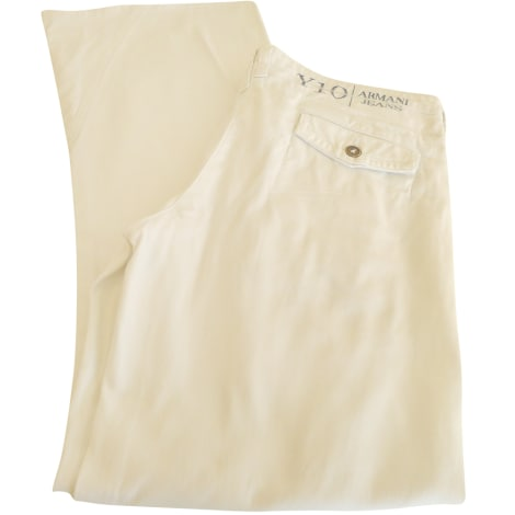 Pantalon droit ARMANI JEANS Blanc, blanc cassé, écru