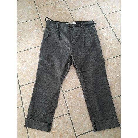 Pantalon droit FREEMAN T PORTER Gris, anthracite